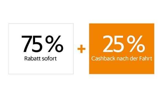 + 25 % Cashback