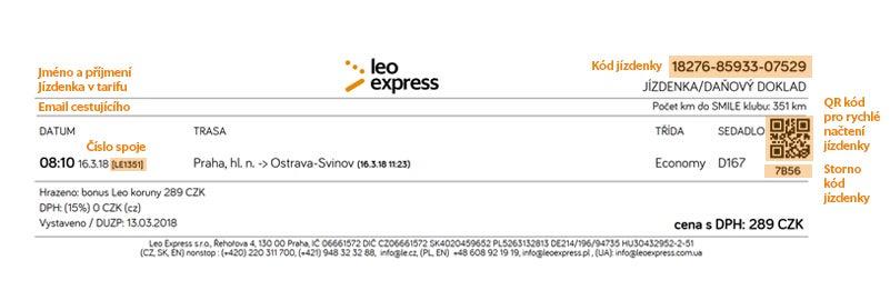 Storno Des Tickets Leo Express