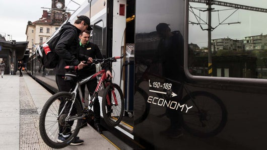 By train with bike