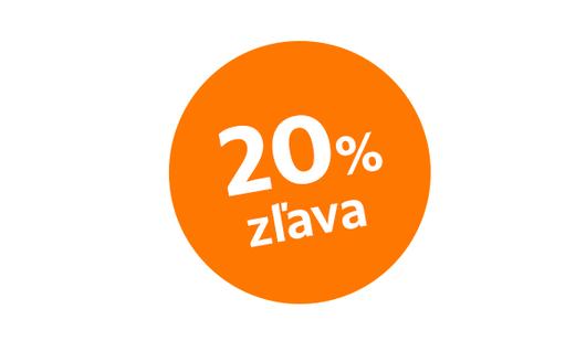 Zľava 20 %